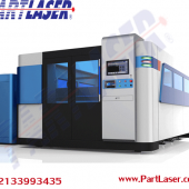 Fiber laser cutting machine with cover